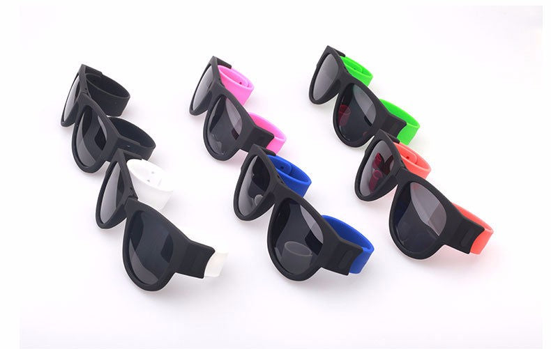 Collapsable Slappable Bracelet Wristband sunglasses - Jeybeauty