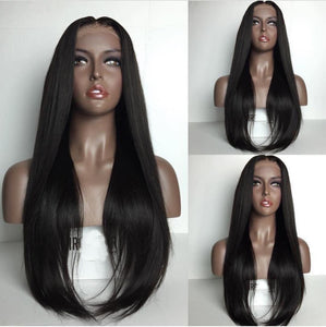 Silky Straight Lace Front Human Hair Wigs with Baby Hair Brazilian Remy Human Hair Wigs - Jeybeauty