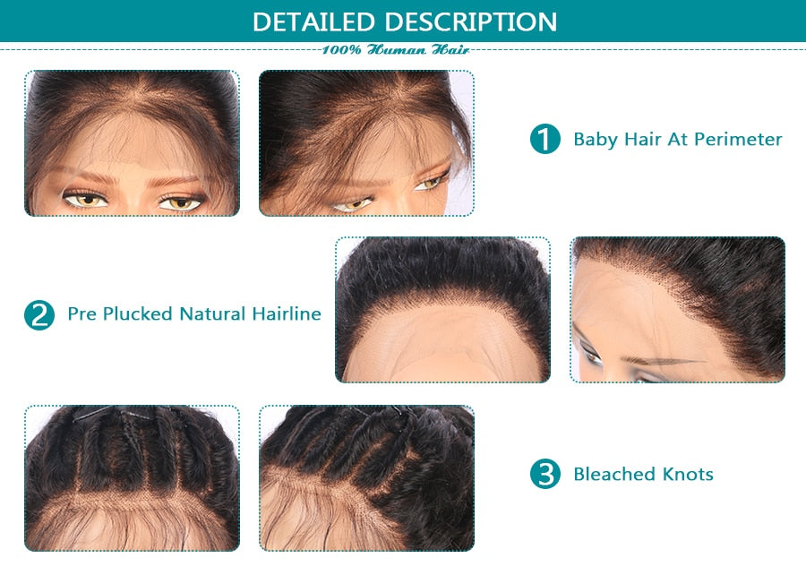 Brazilian Remy Water Wave Lace Front Human Hair Pre Plucked Hairline With Baby Hair - Jeybeauty