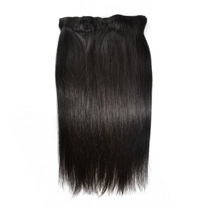 Clip In Brazilian Straight Virgin Hair Extensions 7Pcs/Set 120G Natural Color 100% Human Hair Free Shipping - Jeybeauty
