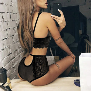 New lace sexy bra set push up seamless embroidery bralette - Jeybeauty