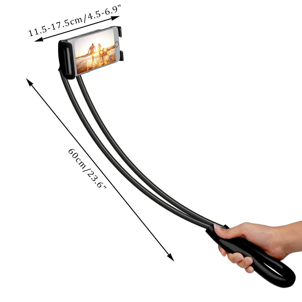 360 Degree Rotation Lazy Bendable Flexible Hang Neck Phone Holder - Jeybeauty