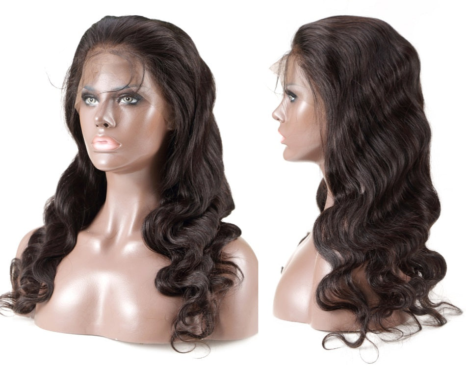 Body Wave 360 Lace Frontal Wig Pre Plucked With Baby Hair Human Remy 360 Full Lace Long Waves Wigs - Jeybeauty