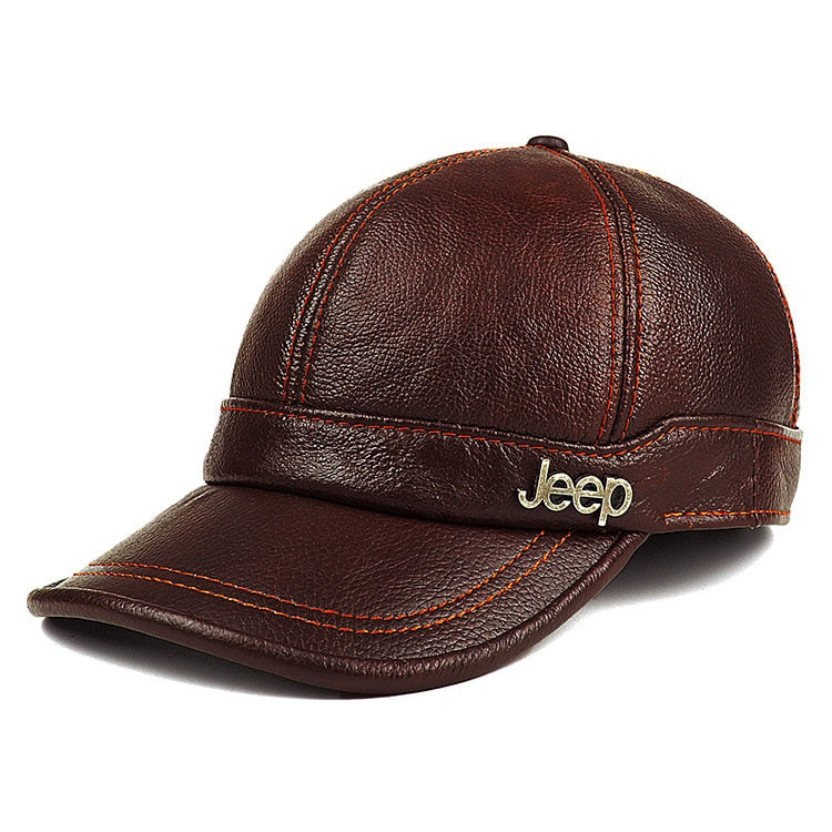 New Genuine Leather Hat - Jeybeauty