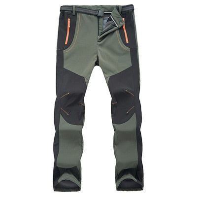 Men Women Hiking Pants Outdoor Softshell Trousers Waterproof Windproof Thermal - Jeybeauty