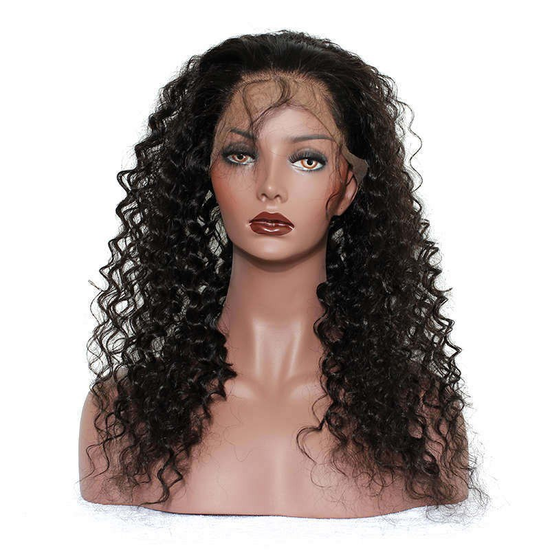 Deep Wave Virgin Hair 360 Lace Frontal Closure Pre Plucked With Baby Hair - Jeybeauty