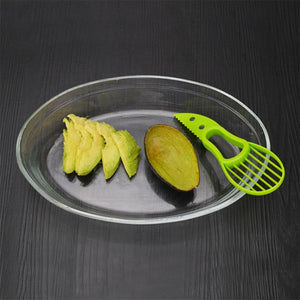 Creative 3 in 1 Avocado Slicer Fruit Pulp Separator Plastic Knife Kitchen Vegetable Tools - Jeybeauty