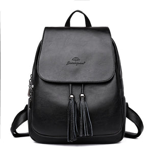 Shoulder Leather Backpacks bags Travel Back - Jeybeauty