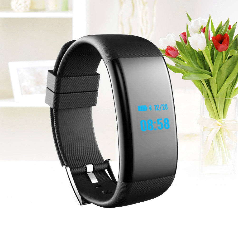 Waterproof Sleep Monitor Bluetooth Smart Fitness Tracker Bracelet with Intelligents Heart Rate Blood Pressure Monitor - Jeybeauty