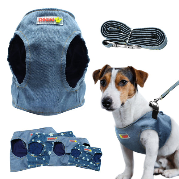 Puppy Cat Harness Vest Denim Harness - Jeybeauty