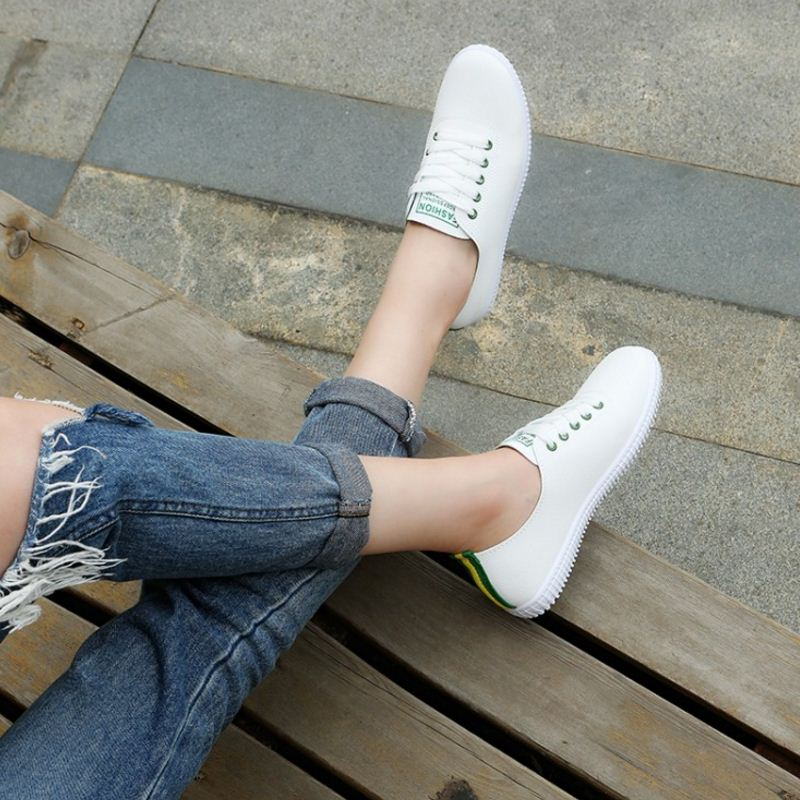 Lace Up Round Toe Casual  Shoes - Jeybeauty