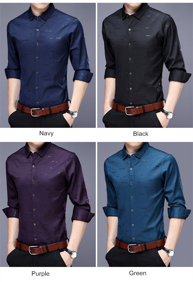 Long Sleeve Shirt Men Dress New Arrivals Cotton Camisa Masculina - Jeybeauty