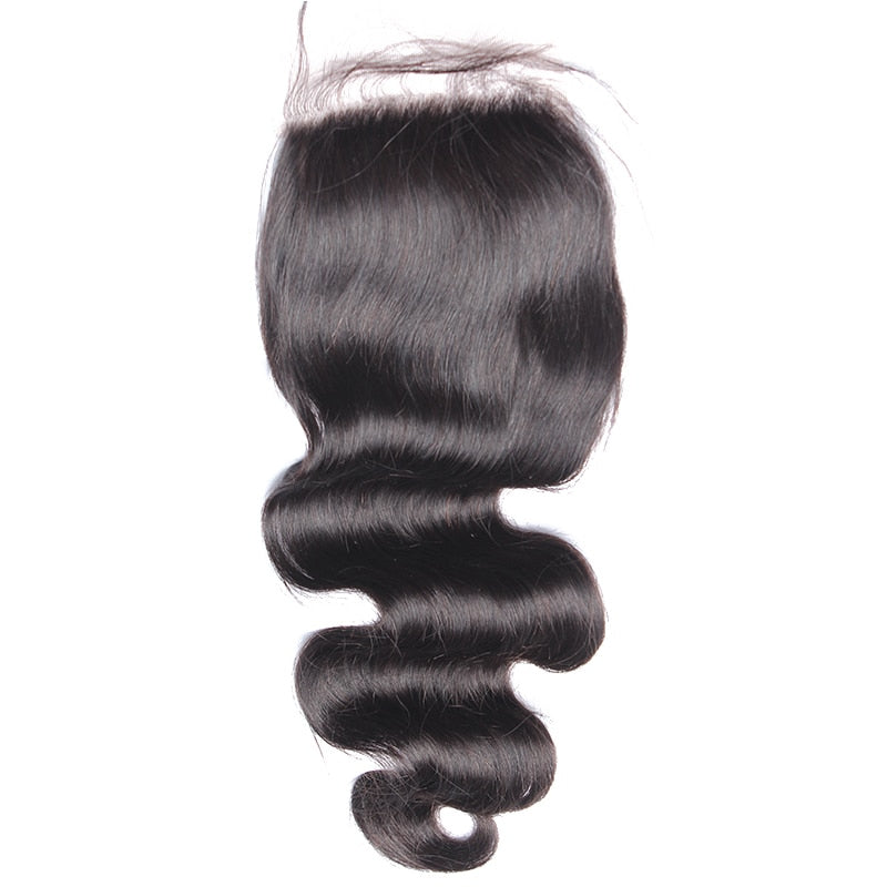 Silk Base Closure Brazilian Body Wave 100% Human Hair With Baby Hair Hidden Knots  Virgin Hair Silk Top Lace Closure - Jeybeauty