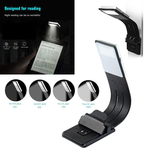 Portable LED Reading Book Light With Detachable Clip - Jeybeauty