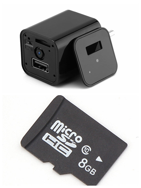Hidden Camera USB Wall Charger Wireless Covert Camcorder - Jeybeauty