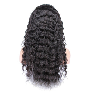 360 Lace Frontal  Deep Wave Full Lace Front Human Hair Wigs  Brazilian Virgin Hair - Jeybeauty