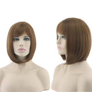 Women Bob Wig Cosplay Synthetic Hair Wig Party Wig Short Straight Wigs - Jeybeauty