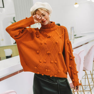 Turtleneck sweater pullover Hollow out knitted sweaters 2018 Autumn winter fashion long sleeve casual jumper - Jeybeauty