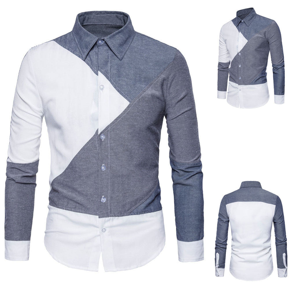 Mens Oxford Suits Slim Fit Tee Shirts - Jeybeauty