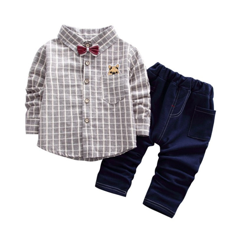 Baby Boys  Gentleman plaid Suit - Jeybeauty