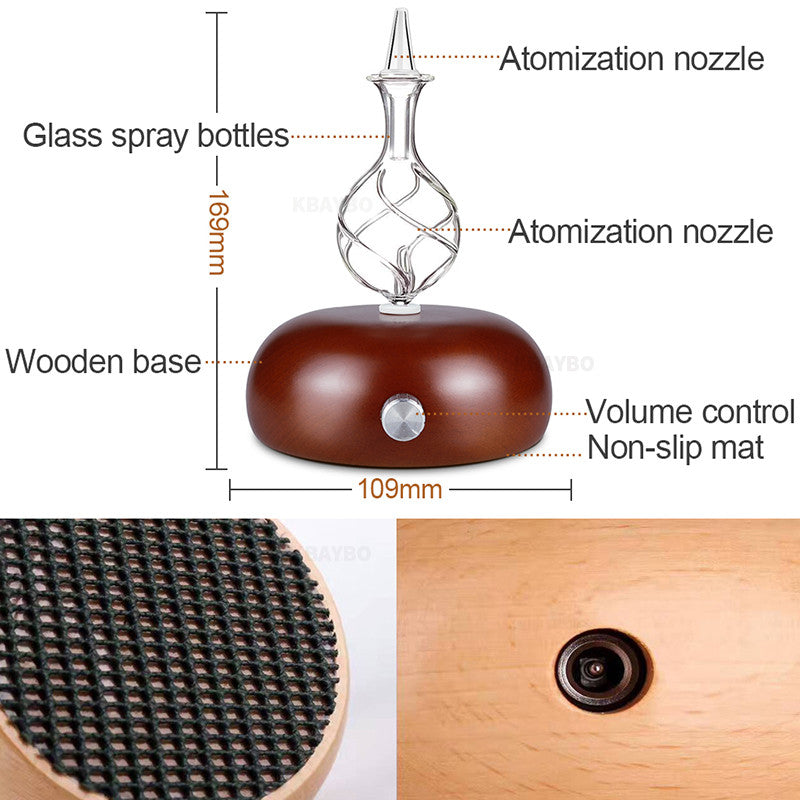 Aroma Essential Oil Diffuser Ultrasonic Cool Mist Humidifier Wood Grain romatherapy Mist Maker for Home - Jeybeauty