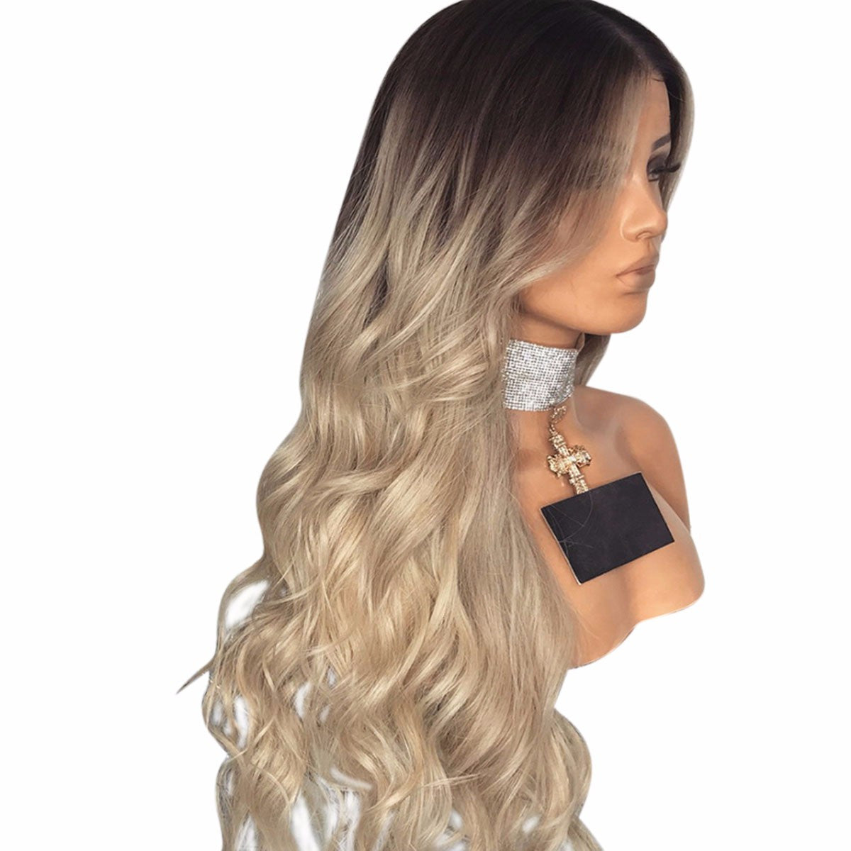 High Temperature Fiber Long Wavy Synthetic Wig, Heat Resistant Hair Wig For Lady 28inches - Jeybeauty
