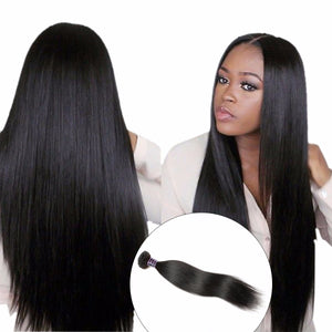 Brazilian Straight Hair Weave, 100% Human Hair Bundle, 1Pc Natural Non Remy Hair - Jeybeauty