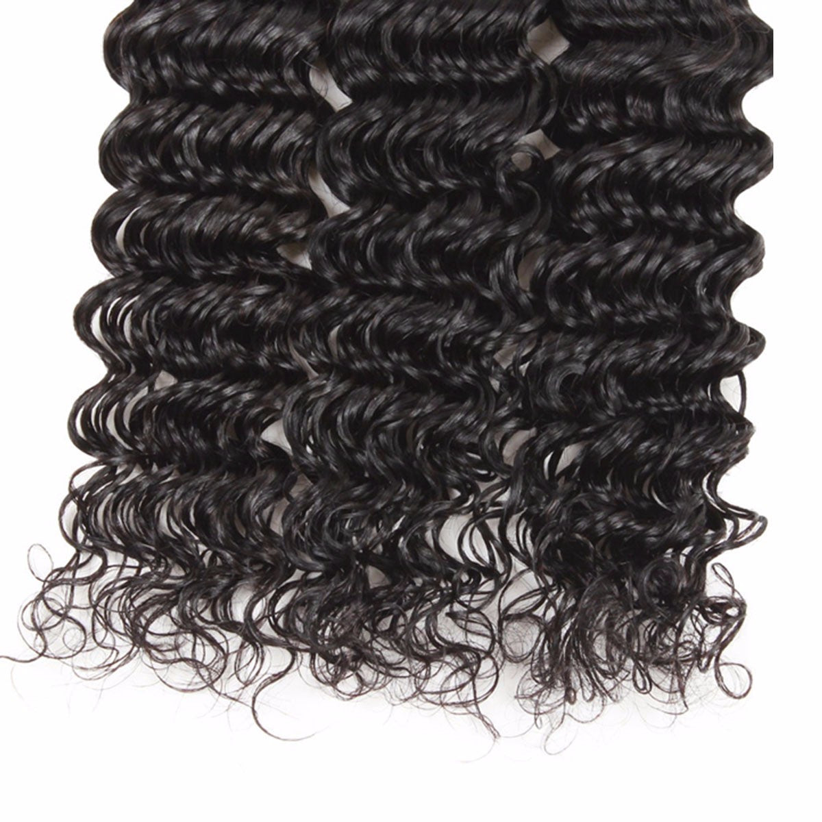 Indian Deep Wave Hair 3 Bundles 100% Human Hair Weave Non Remy Natural Color - Jeybeauty