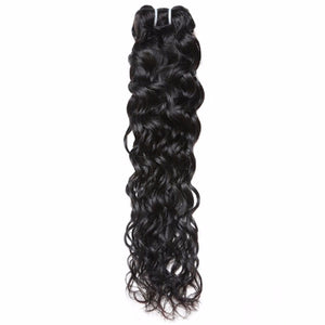 Indian Human Hair Water Wave Hair Weave, Natural Color  1Pc Hair Bundle - Jeybeauty