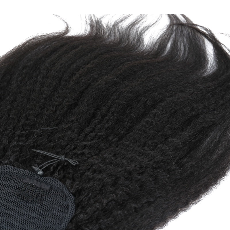Brazilian Kinky Straight Hair Ponytail - Jeybeauty