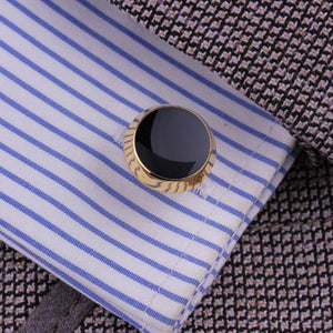 Vintage Gold+Silver Round Mens Wedding Party Gift shirt Cuff links Cufflinks - Jeybeauty