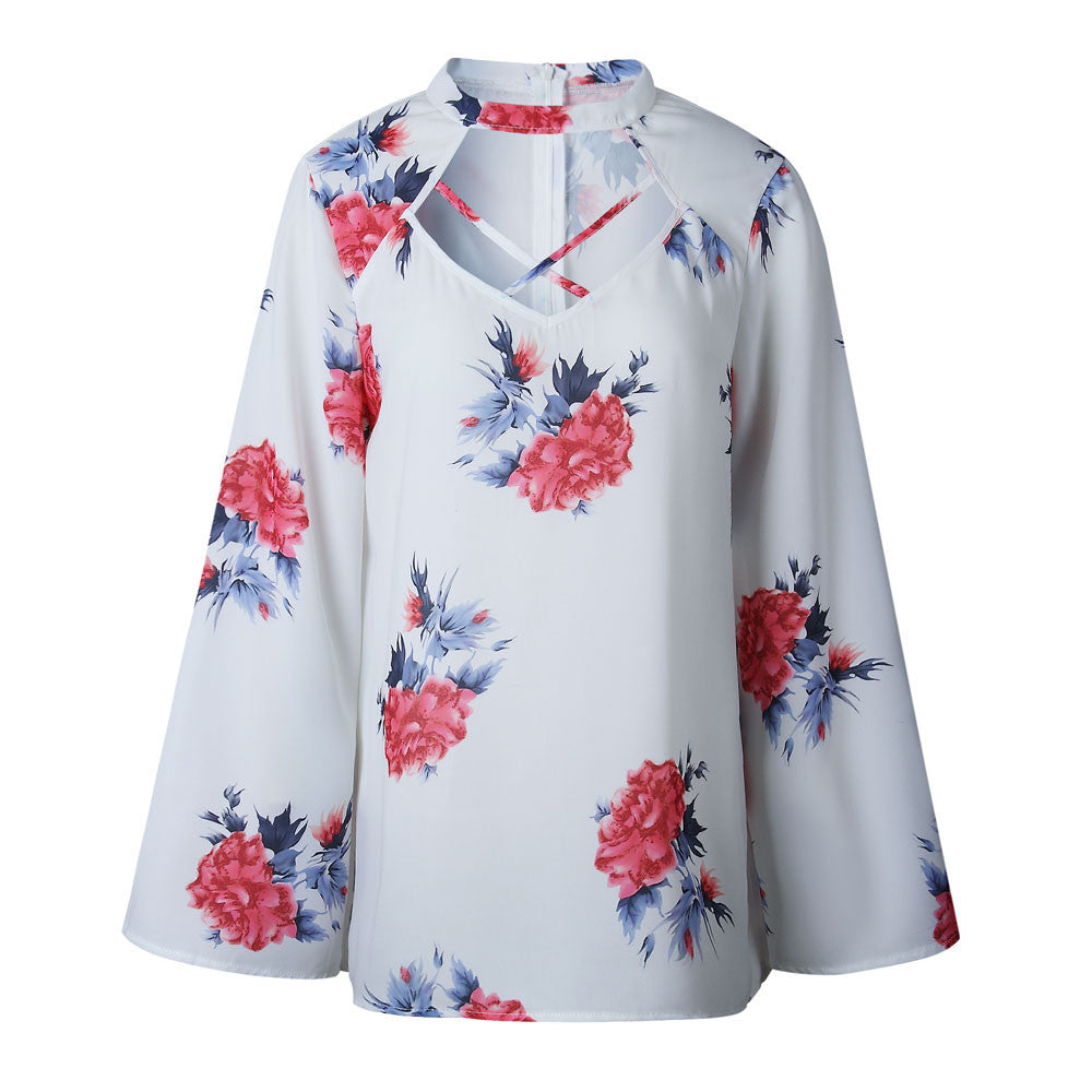 Floral Long Sleeve Top - Jeybeauty