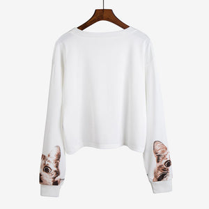 Long Sleeve O Neck Printed Shirt Blouse Casual Pullover Tops - Jeybeauty