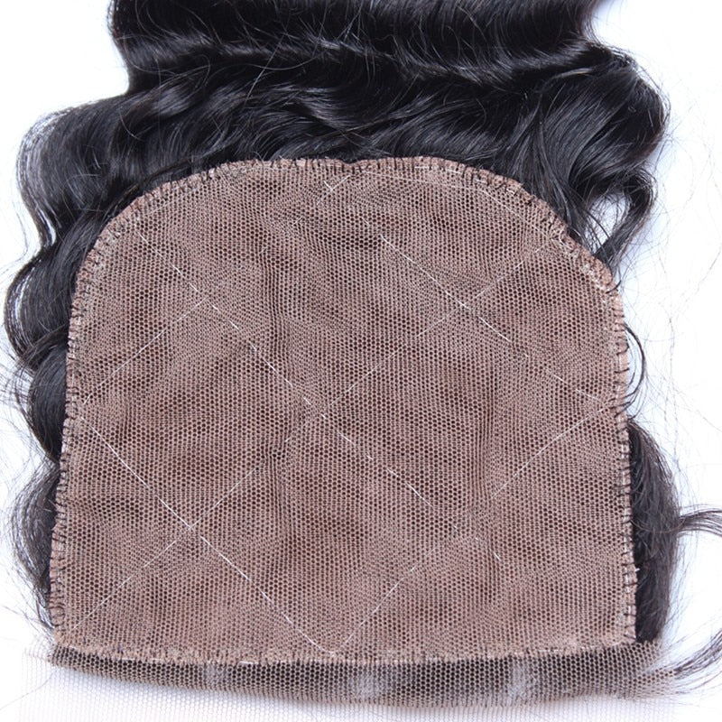 Kinky Straight Silk Base Lace Closure Pre Plucked With Baby Hair Hidden Knots Brazilian Virgin Hair Silk Top Lace Closure - Jeybeauty