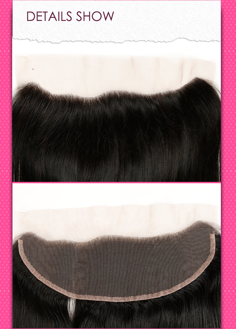 Mink Brazilian Virgin Hair Straight 13x4 lace frontal closure - Jeybeauty