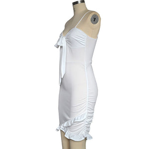 Sexy Women Dress Strappy Dress Sleeveless Clubwear Cocktail Bodycon Dress - Jeybeauty
