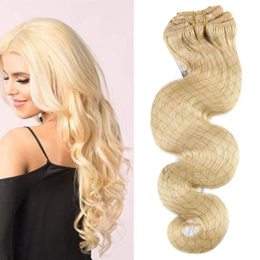 Body Wave  Blonde#613  Clip in Real Hair - Jeybeauty