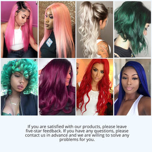 Rose Pink Hair With Closure Two Tone Ombre  Brazilian Hair Weave Bundles Remy Hair - Jeybeauty