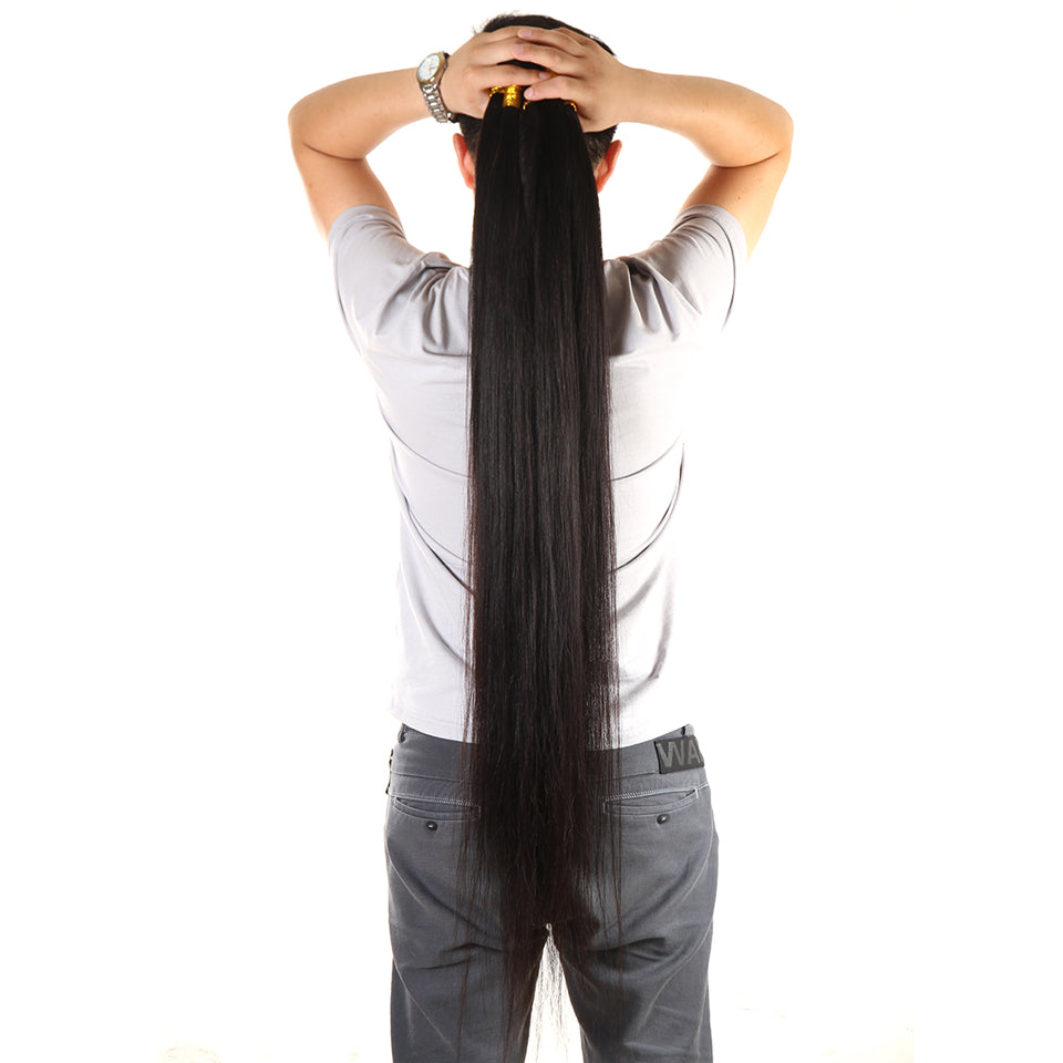 Straight Bundles 1 Piece Only Natural Black 100% Human Remy Hair - Jeybeauty