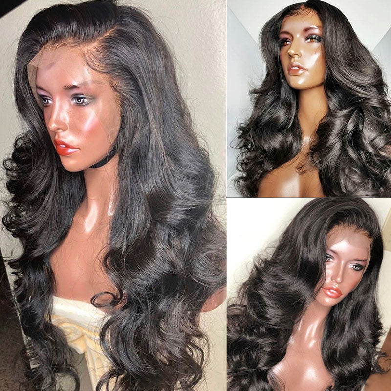 Brazilian Body Wave Lace Front Wig Pre Plucked Non-remy Hair Bleached Knot You May - Jeybeauty