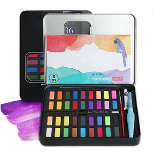 36 Colors Fine Watercolor Solid Water Color Paint Set - Jeybeauty