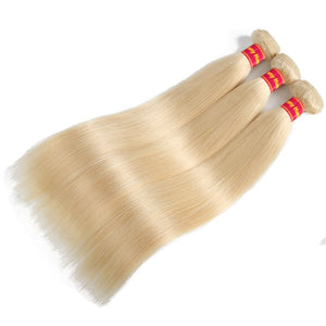 Brazilian Straight Hair Bundles Weave 10Pcs Lot Blonde Remy Hair 100% Human Hair - Jeybeauty