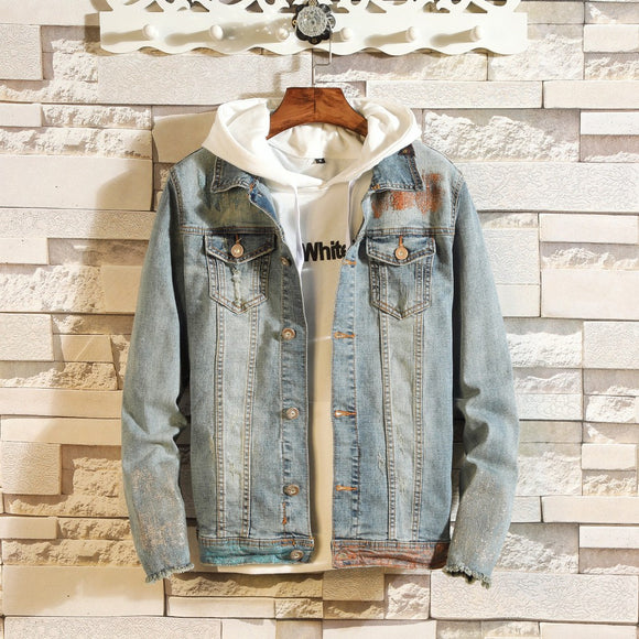 Brand New Men  Denim Jacket Men Outfit - Jeybeauty