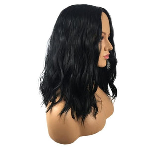 Short Bob Curly Wig Hair Full Wigs Natural Black Wigs - Jeybeauty
