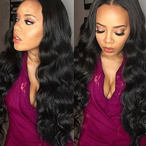 Body Wave Pre plucked Front Lace Full Wig W/Baby Hair Bleached Knots - Jeybeauty