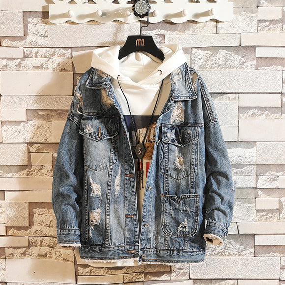 Brand New Fashion  Denim Jacket Men Outfit - Jeybeauty