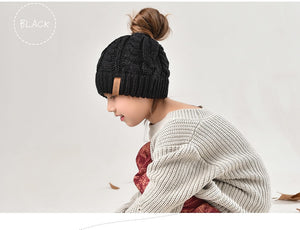 Children Hat Ponytail Hats Girl - Jeybeauty
