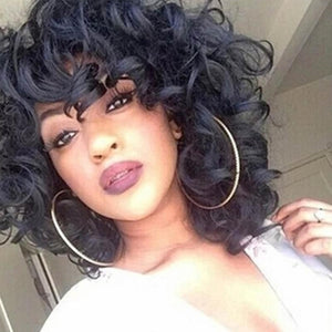 Curly Short Synthetic Wig Short Wigs for Women Curl Female Wig Cosplay - Jeybeauty