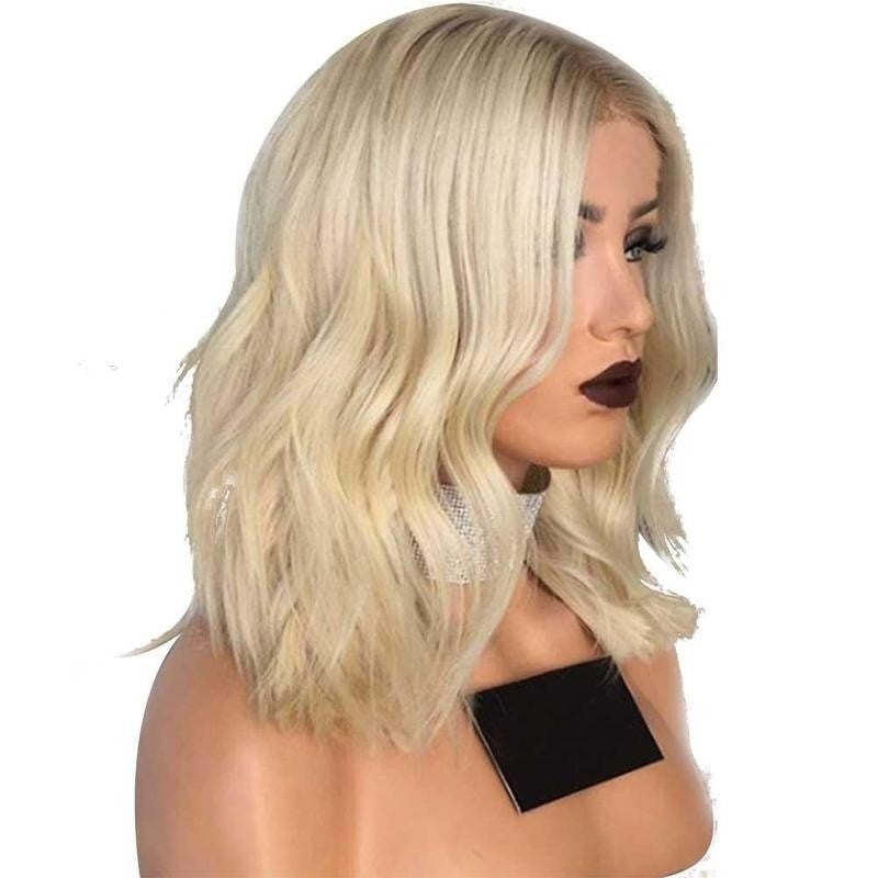 Straight Curly Lace Front Wig Wavy Lace Synthetic Hair Wig - Jeybeauty