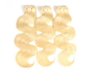 blonde Brazilian hair bundles Body Wave Virgin Hair 3PCS hair extensions - Jeybeauty